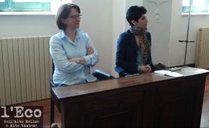 Da sinistra Maria D'Andrea (vicesindaco di Capracotta) e Nadia Falasca