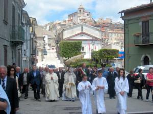 processione eucaristica a schiavi