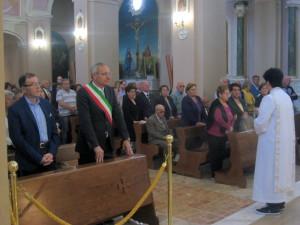 vicesindaco Fiorito e sindaco Piluso in chiesa