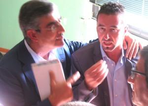 il consigliere Smargiassi, a destra, insieme al governatore D'Alfonso