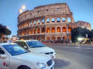 taxi al colosseo - roma