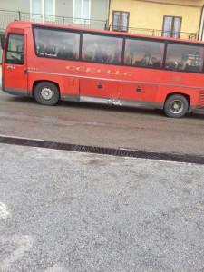 Autobus coinvolto in incidente a Belmonte (Isernia)
