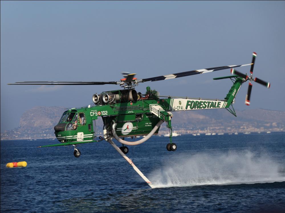 Elicottero E Aereo : Roghi morrone in azione cinque canadair e un mega