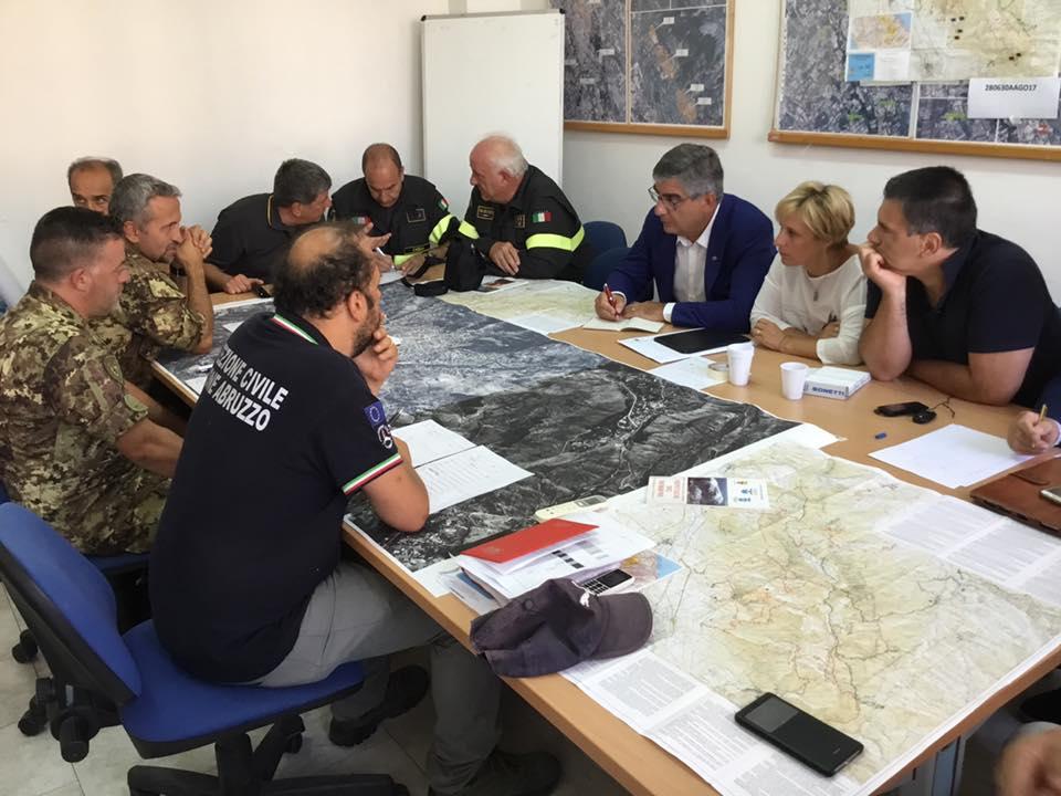 Incendi Monte Morrone tra Abruzzo e Lazio nella zona del terremoto