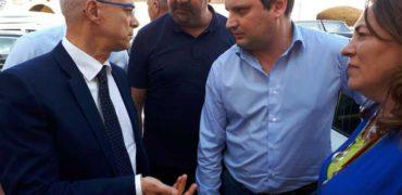 Acquaviva Collecroce (Campobasso), il neopresidente della Regione Donato Toma con il sindaco Francesco Trolio
